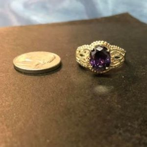 Sterling silver and amethyst ring size 9.5